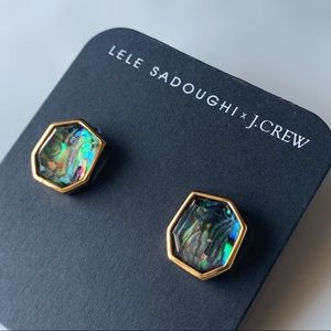 Lele Sadoughi x J.Crew rainbow stud earrings